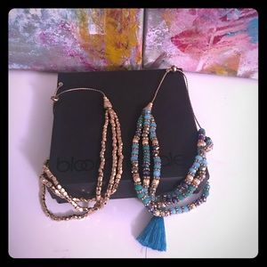 Turquoise and gold bracelets